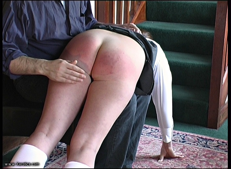 ... showed was when she was ordered over his knee for the first spanking, ...