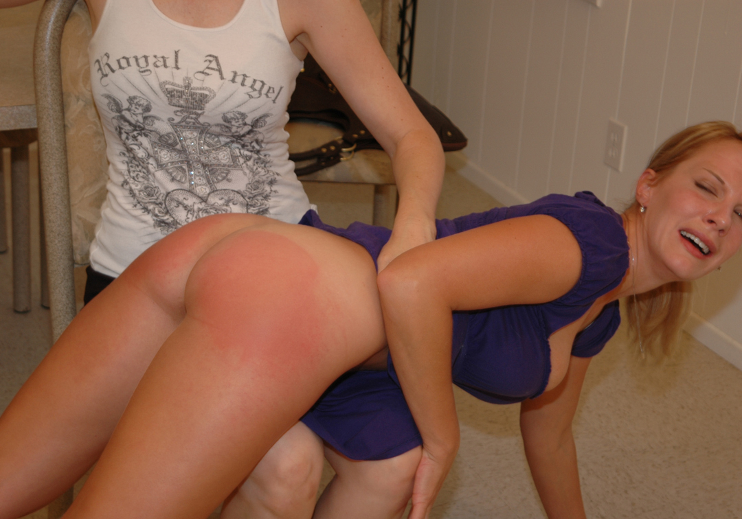 500 spanks on each cheek her ass ends up burning red 8