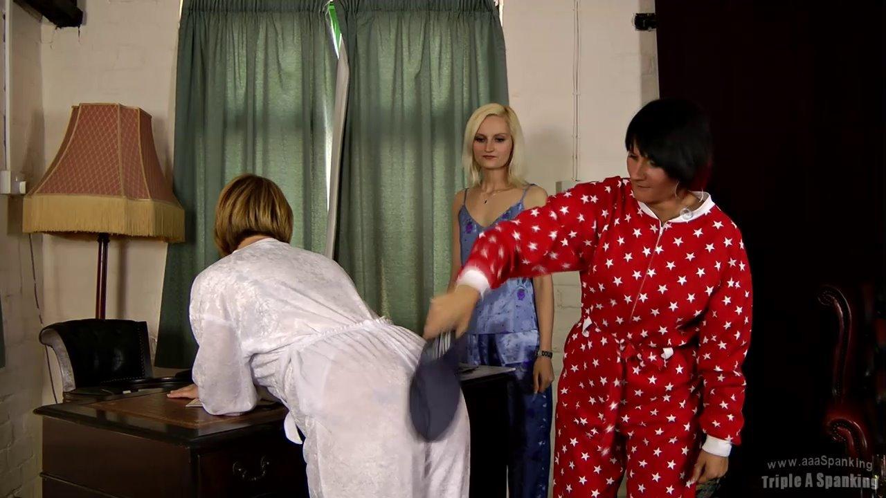 Pyjamas down spank