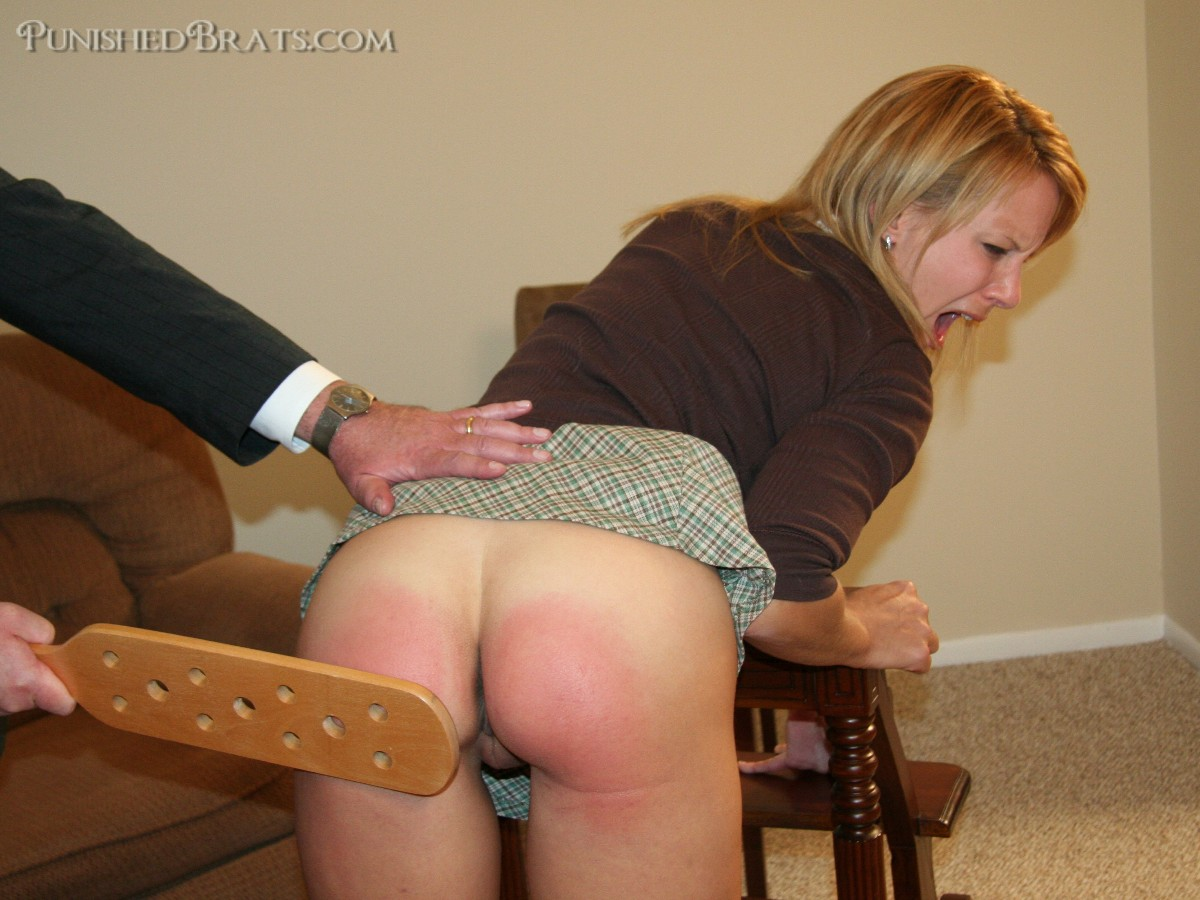 2 hot babes wooden spoon spanking fun 6