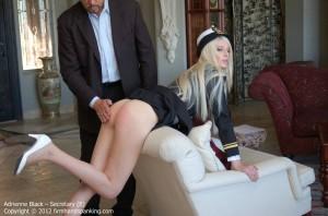 Adrienne black spank