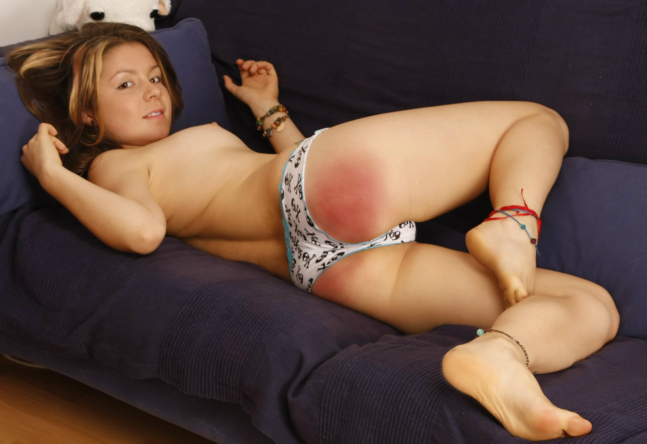 Very young girl spank
