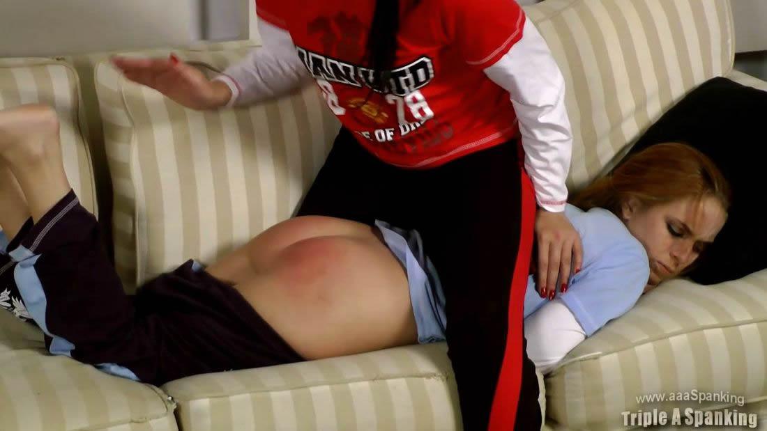 Soccer Girl Spank