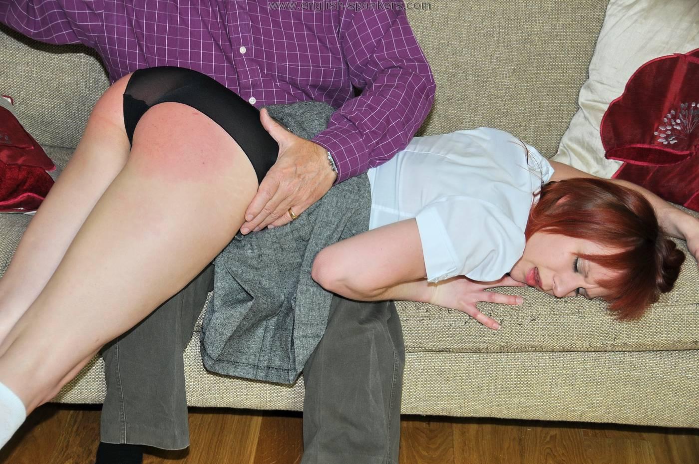 Spanking english bare bottom 1 6