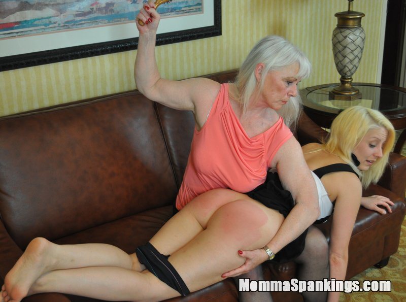 sexy red haired mom spank