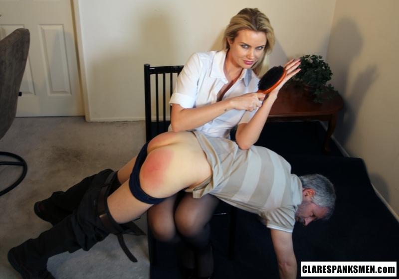 Masturbating blonde spanked by mom