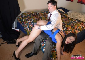 panties pulled down for a spanking