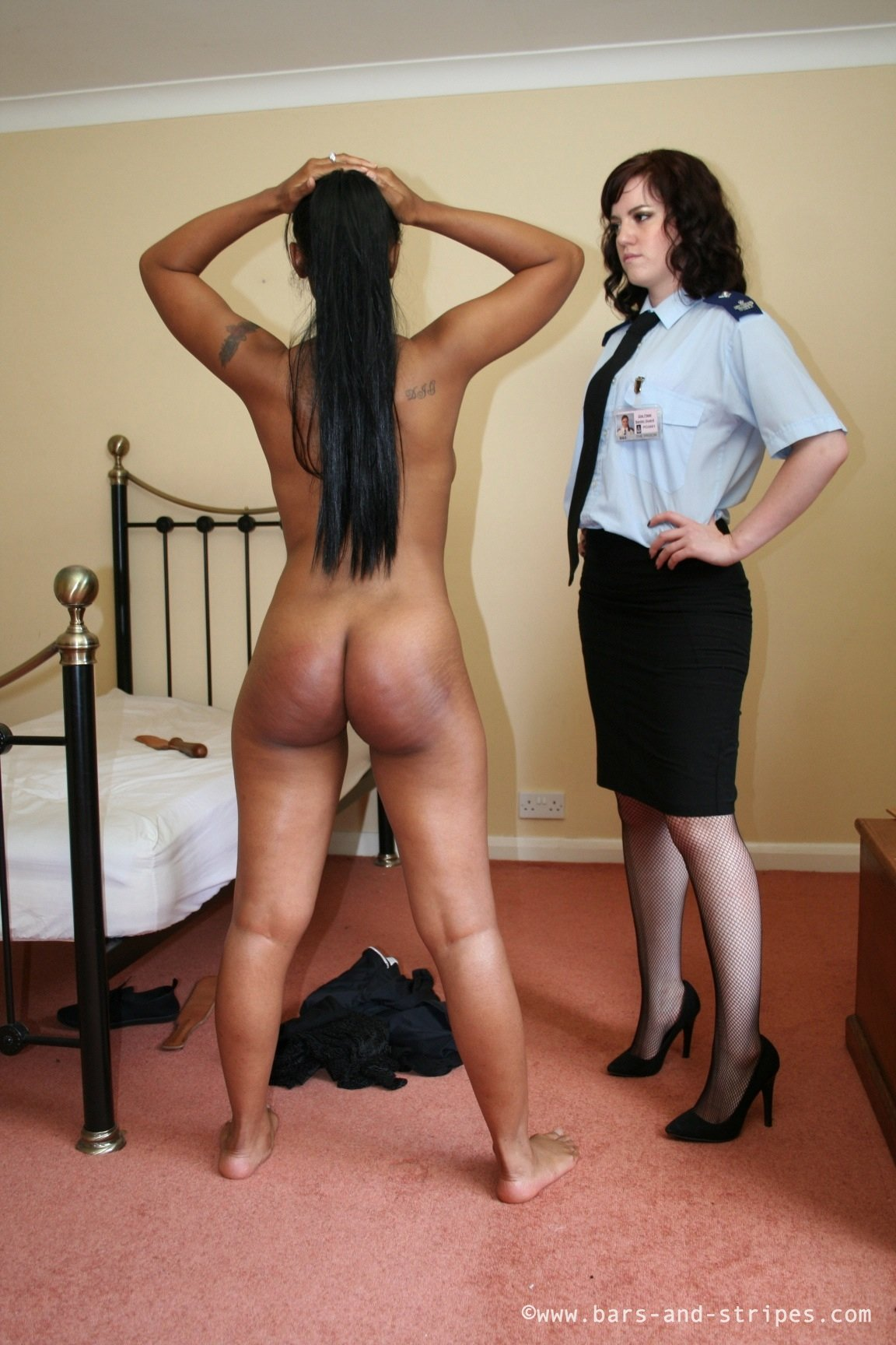 Ebony girl gets spanked