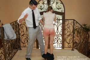 spanked in the hallway