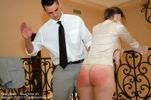 spanked stood up