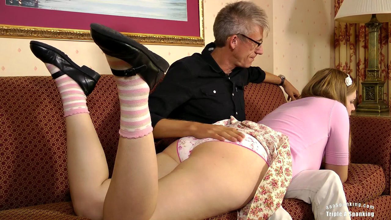 Wife spanks her husband