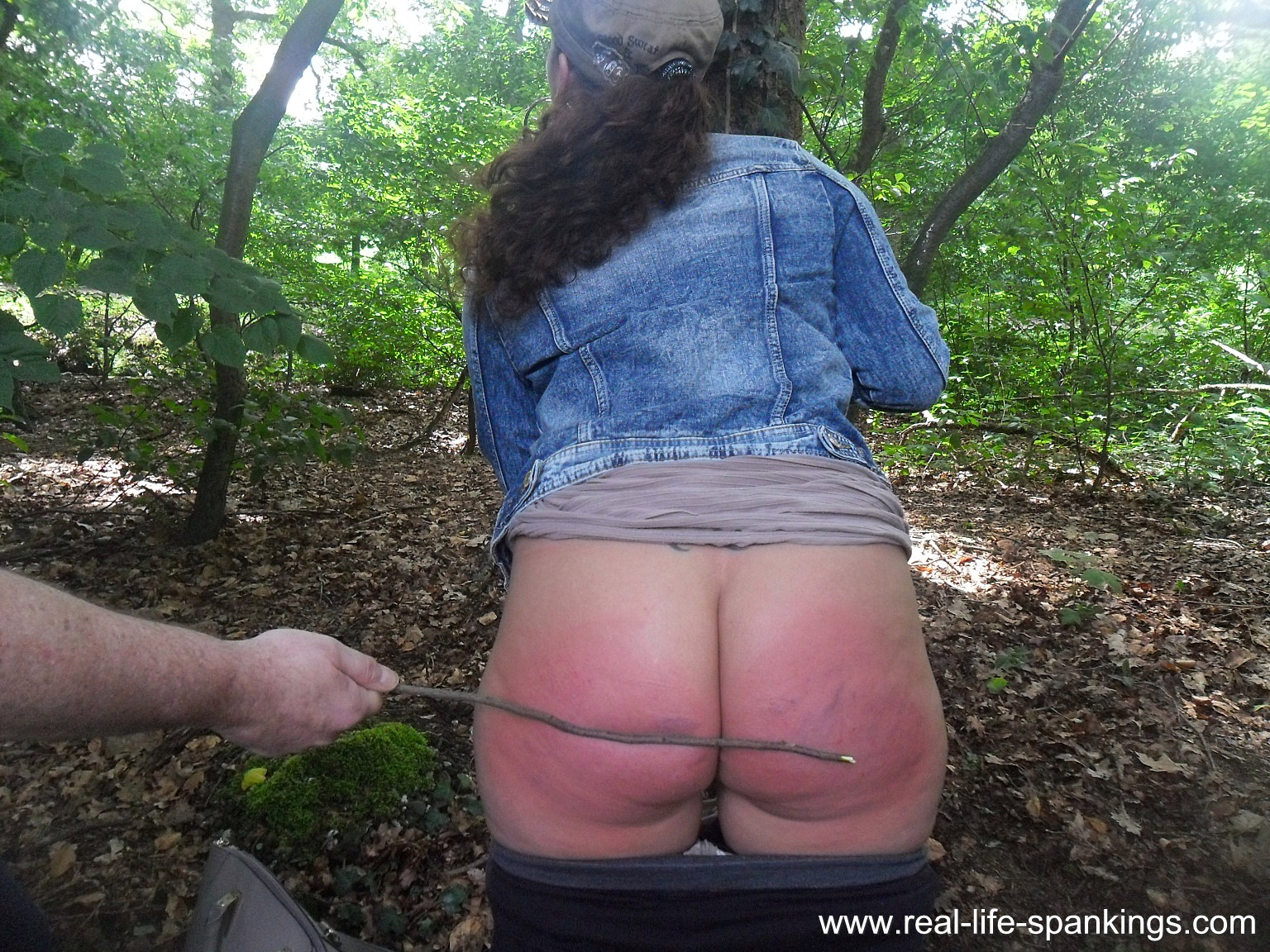 Spanked in the woods