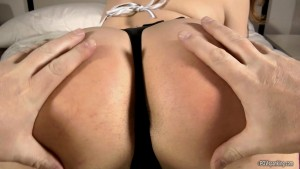 close up bare butt pov spanking