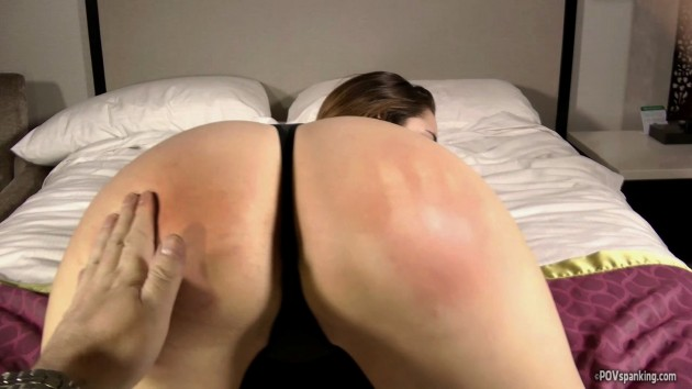 hand print spank marks