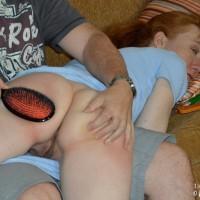 Melody gets a hard humiliating spanking