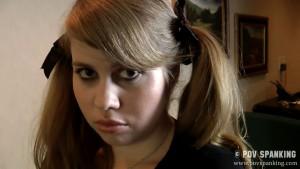 Christy Cutie pouts