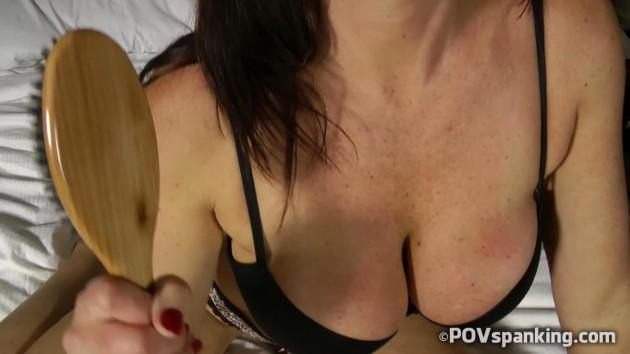 Christina Carter hairbrush spanking