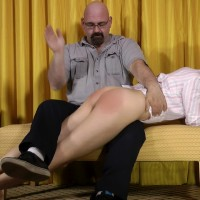 Joelle Barros gets a Spanking from Daddy