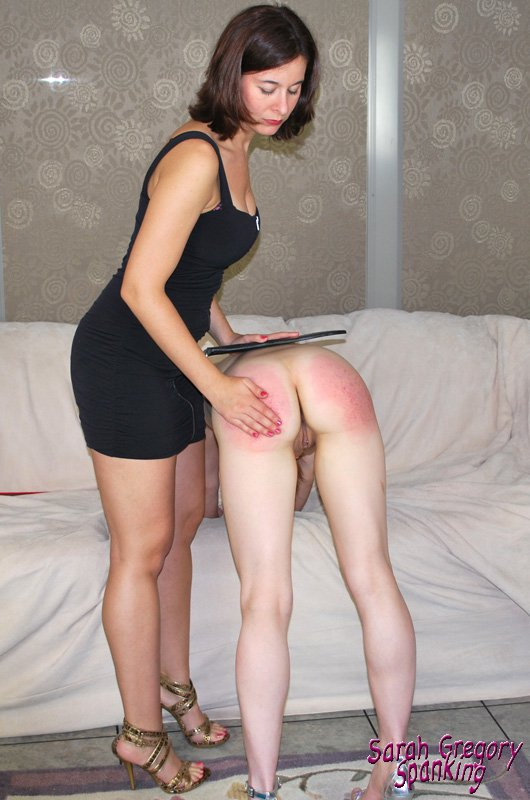 Emma Harper spanked by Sarah Gregory