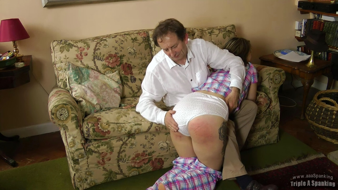 She scolded her then spanked her