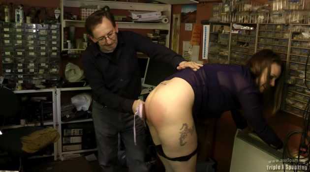 Aleesha Fox gets another spanking!