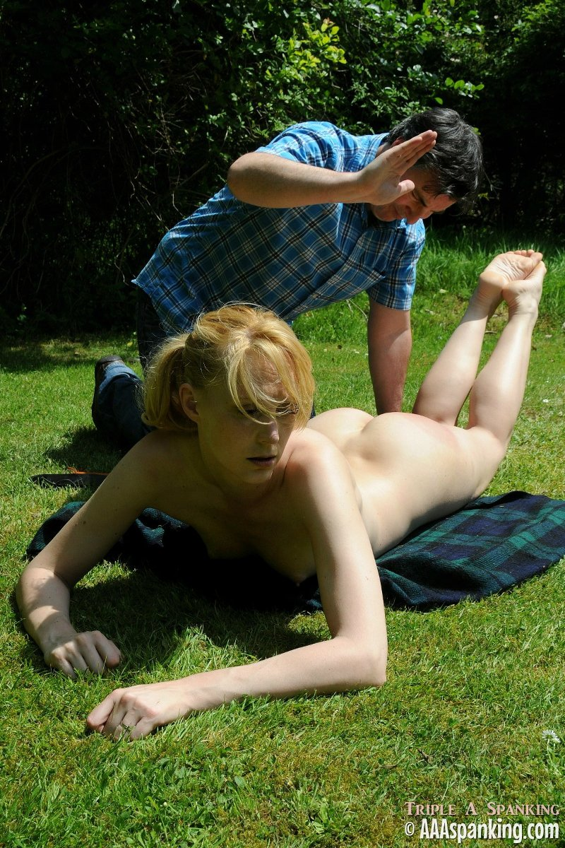 Spanked outside