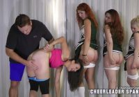 Multiple Cheergirl Spankings