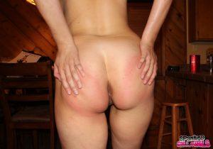 rounded spanked bottom