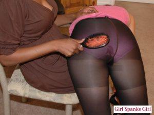 pantyhose spanking