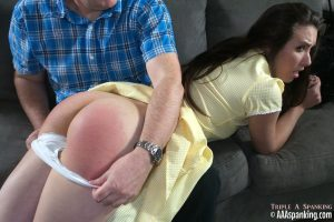 knickers down for her spanking