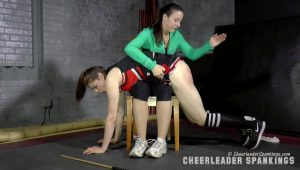 cheerleader spanking
