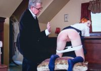 tutor spanks schoolgirl on her bare bottom