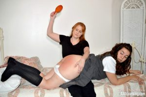 spanking over mommy's knee