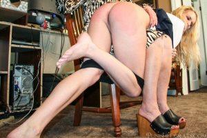 kicking and shouting being spanked OTK