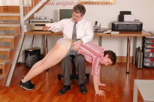 spanking over panties