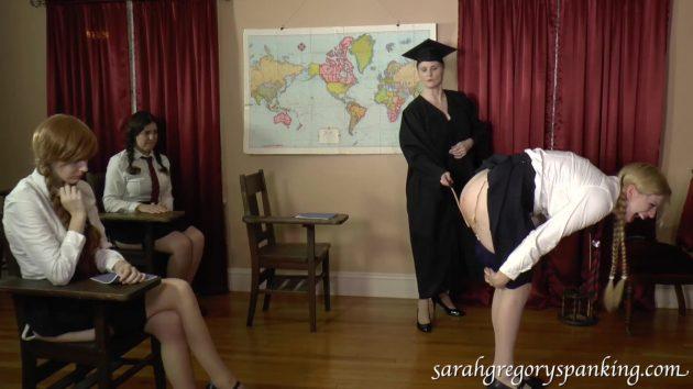 public schoolgirl caning