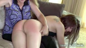 pert buttocks given a sound spanking