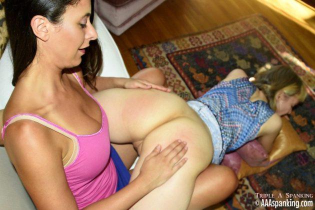 clare fonda gets a wheelbarrow spanking
