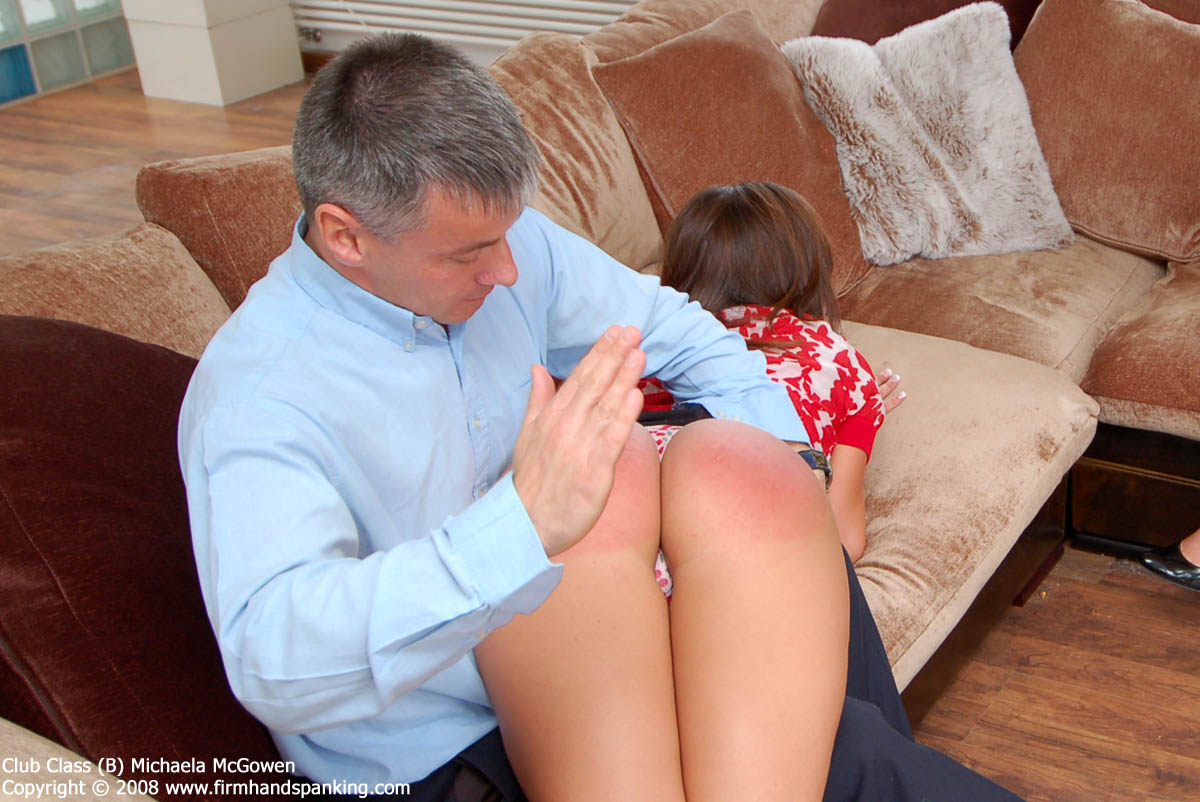 Spanked Female Butt Cheeks