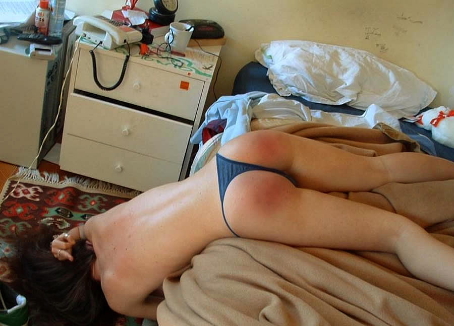 Amateur ass spanked canned