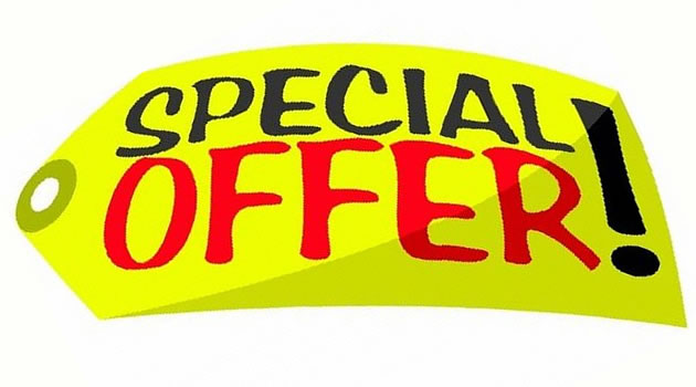 Take advantage of a Special Offer