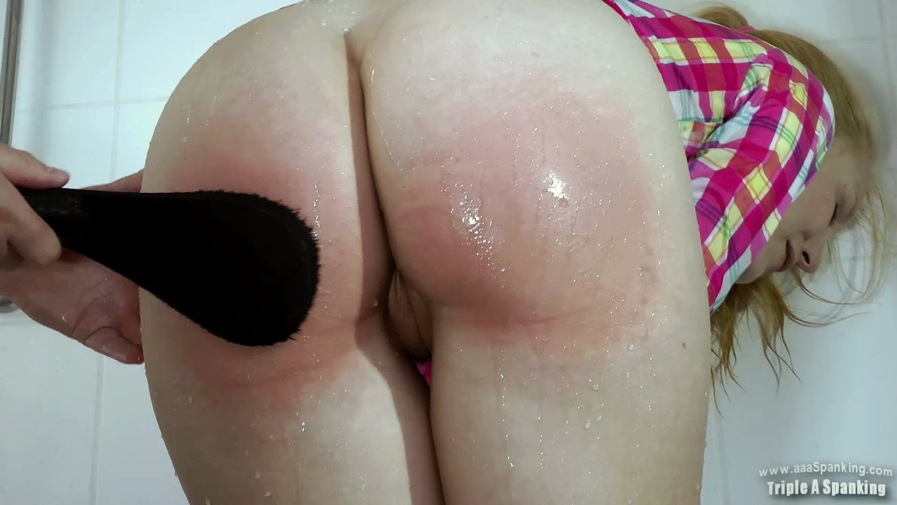 Spank girls wet butt — 4