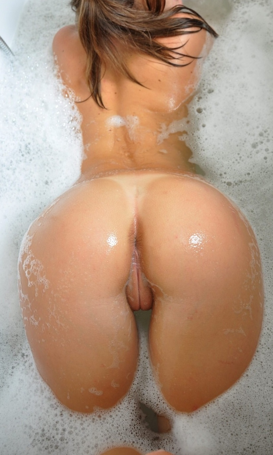 wet soapy suds ass