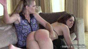 Adriana Evans spanked by mother