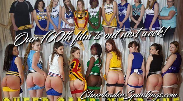 Celebrate Cheerleader Spankings 100th Film!