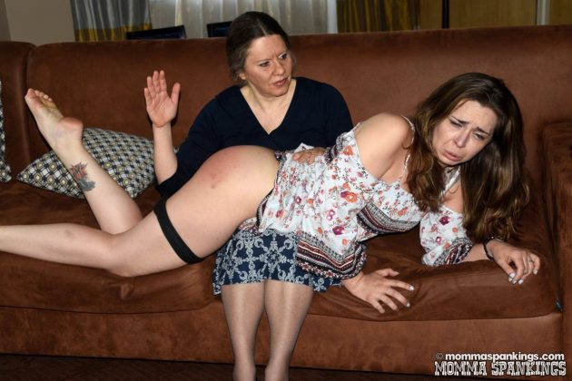 Adriana Evans spanked by mom