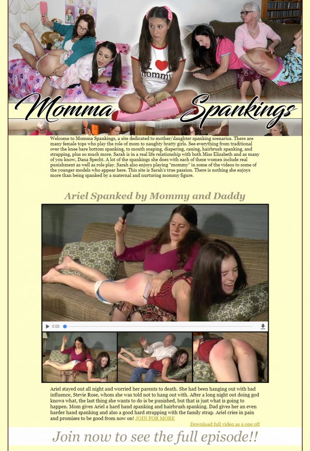momma spankings - winner best site 2017