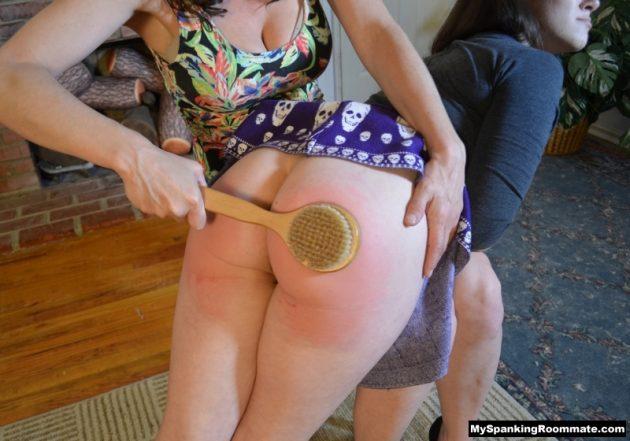 bathbrush spanking