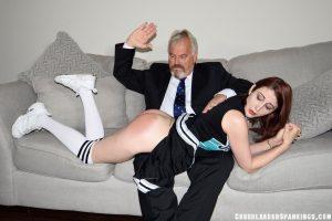 cheerleader spanking