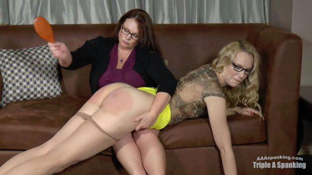 upskirt aunt spanked otk